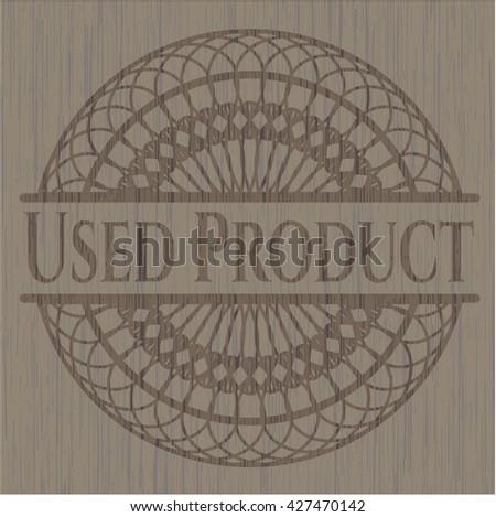 Used Product realistic wood emblem