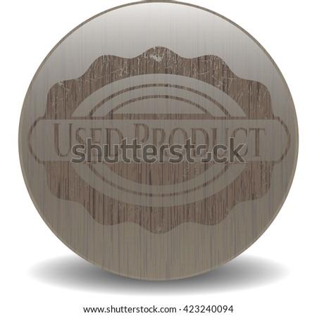 Used Product retro style wood emblem