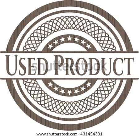 Used Product retro style wooden emblem