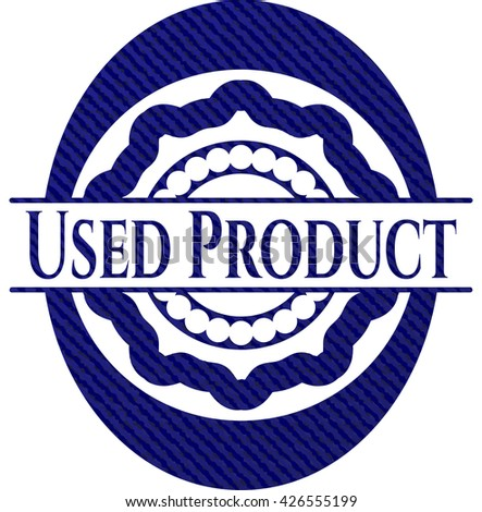 Used Product with denim texture