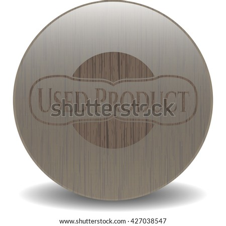 Used Product wooden emblem. Retro