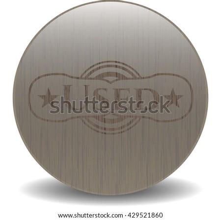 Used retro wood emblem