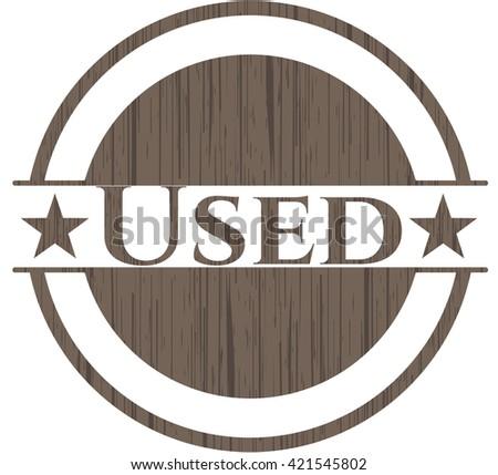 Used wooden emblem