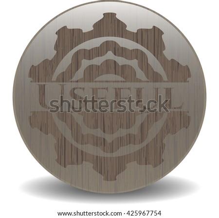 Useful vintage wood emblem