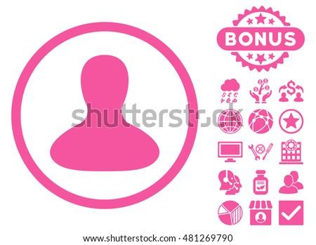 user avatar icon with bonus