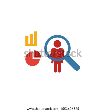 User Behavior icon. Flat creative element from big data icons collection. Colored user behavior icon for templates, web design and software.
