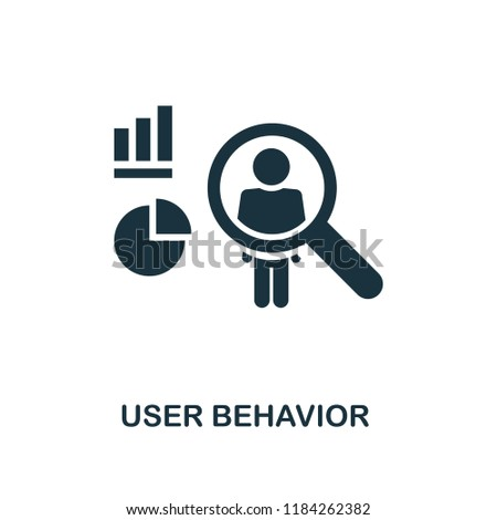 User Behavior icon. Monochrome style design from big data collection. UI. Pixel perfect simple pictogram user behavior icon. Web design, apps, software, print usage.