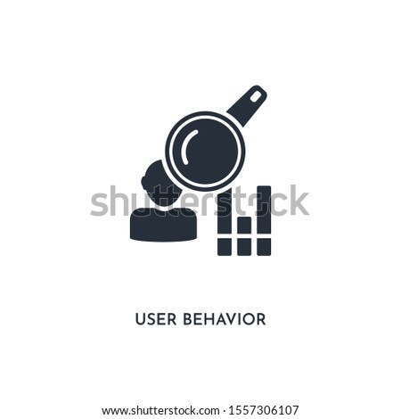 user behavior icon. simple element illustration. isolated trendy filled user behavior icon on white background. can be used for web, mobile, ui.