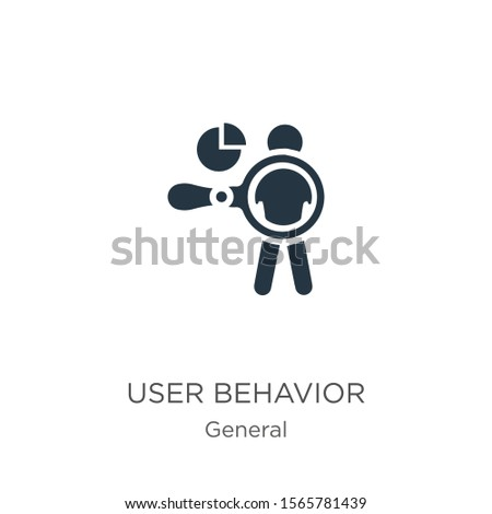 User behavior icon vector. Trendy flat user behavior icon from general collection isolated on white background. Vector illustration can be used for web and mobile graphic design, logo, eps10