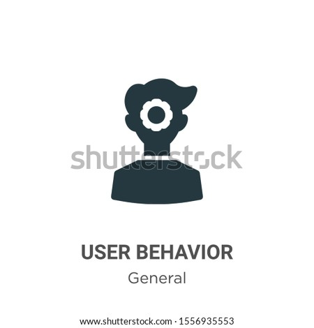 User behavior vector icon on white background. Flat vector user behavior icon symbol sign from modern general collection for mobile concept and web apps design.