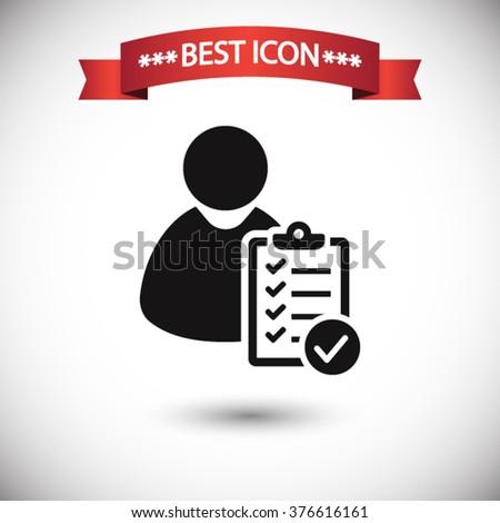 User checklist icon vector