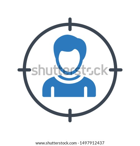 user focus glyph colour vector icon