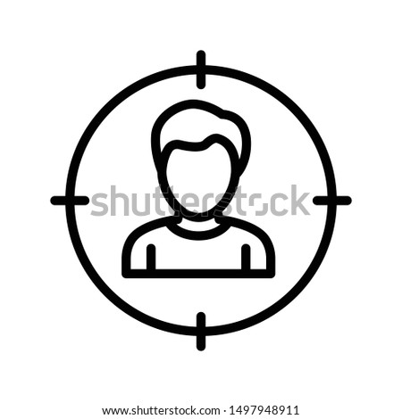 user focus thin line vector icon