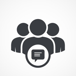 User group icon. Management Business Team Leader Sign. Social Media, Teamwork concept. Bubble comment icon