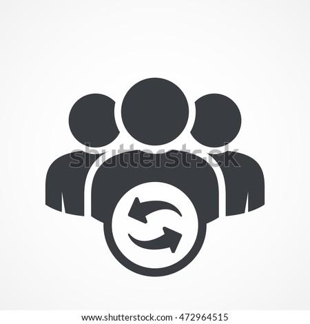 User group icon. Management Business Team Leader Sign. Social Media, Teamwork concept. Refresh symbol