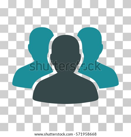 User Group icon. Vector illustration style is flat iconic bicolor symbol, soft blue colors, transparent background. Designed for web and software interfaces.