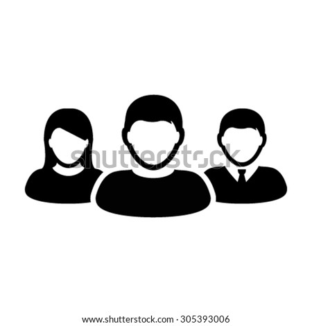 User group of management team leader icon - Vector