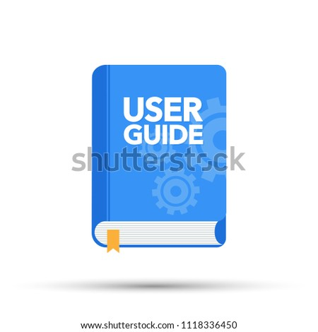 User Guide book. Flat vector stock illustration.