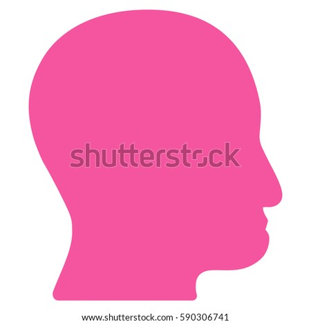 user head vector icon flat
