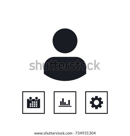 User icon business set simple vector illustration