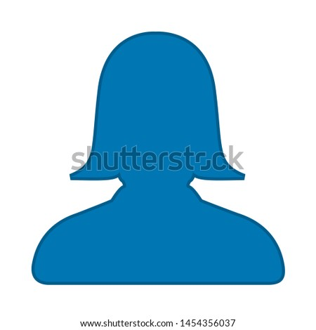 User icon. flat illustration of User. vector icon. User sign symbol