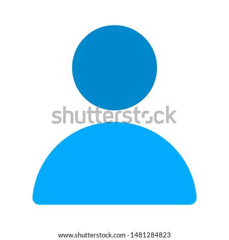 user icon. flat illustration of user vector icon. user sign symbol