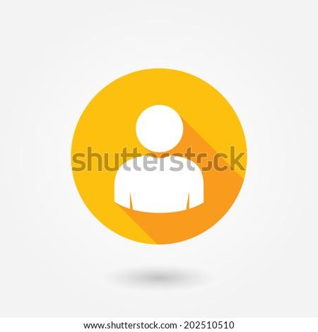 User icon. Human vector. Person silhouette. Avatar icon. Web user symbol. Man sign. Social profile icon