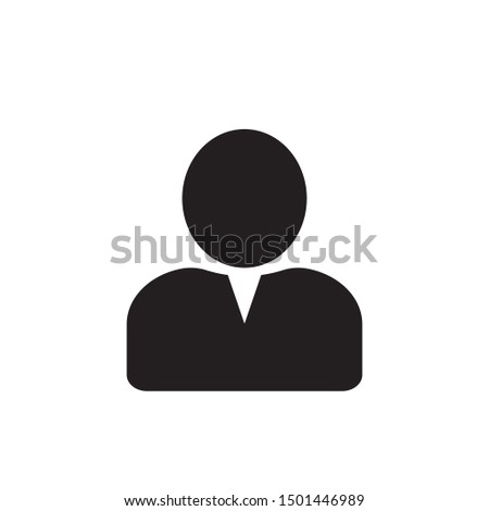 User icon in flat style, Person icon, User icon for web site, User icon vector illustration