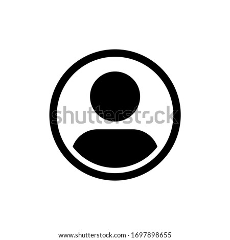 User icon in trendy flat style isolated Zdjęcia stock ©