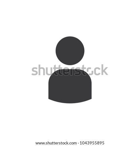 User icon isolated on the white background. Icon for your website, infographic. Vector EPS10