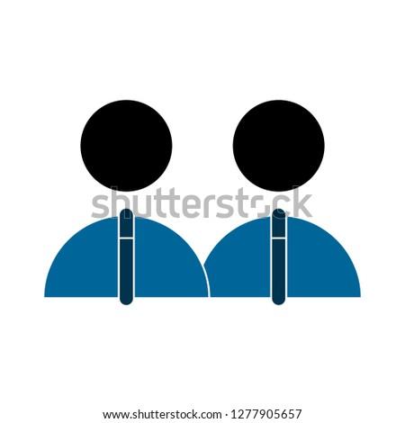 user icon - network user isolated, social member illustration - Vector network user