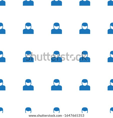 User icon pattern seamless isolated on white background. Editable filled User icon. User icon pattern for web and mobile.