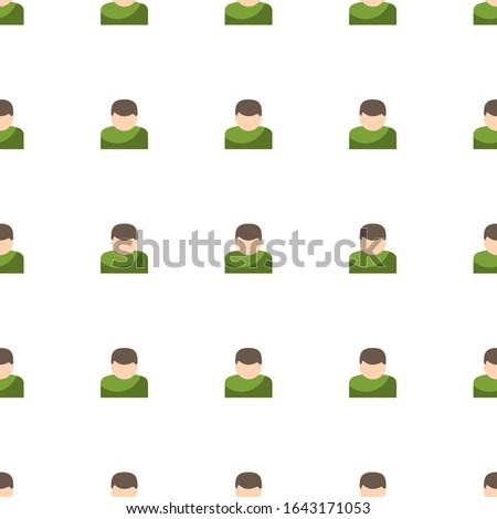 User icon pattern seamless isolated on white background. Editable flat User icon. User icon pattern for web and mobile.