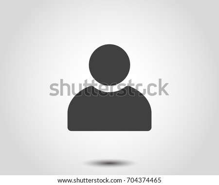 User Icon. Person Profile Sign. Vector Avatar Illustration. Office Human Web Symbol. Business Man Silhouette. Ui Head Internet. Male Social Member Thin Flat Pictogram