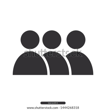 User icon, User group, User symbol, Editable stroke. Vector illustration, eps10.