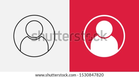 User icon . user icon vector, in trendy flat style. user icon image, user icon illustration. Line and filled icons set