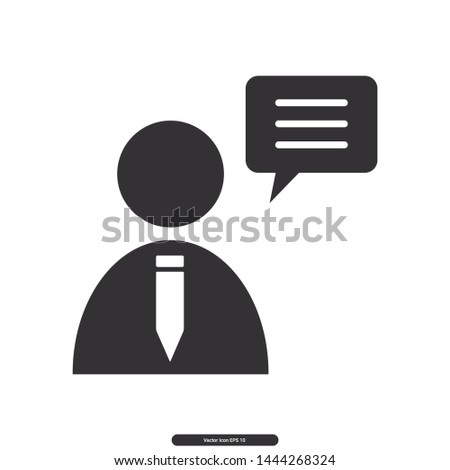 User icon, User message, User symbol, Editable stroke. Vector illustration, eps10.