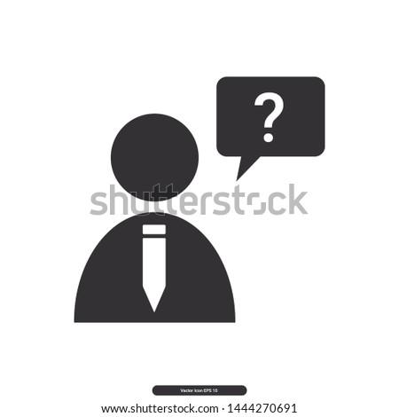 User icon, User question, User Question symbol, Editable stroke. Vector illustration, eps10.