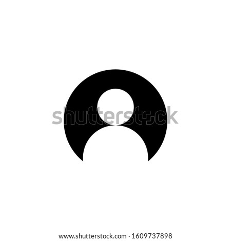User Icon, User symbol in black flat design style on white background