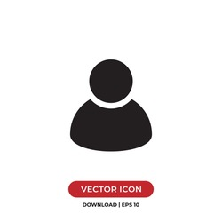 User icon vector. Avatar sign