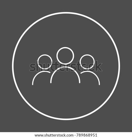 User icon vector illustration on dark background