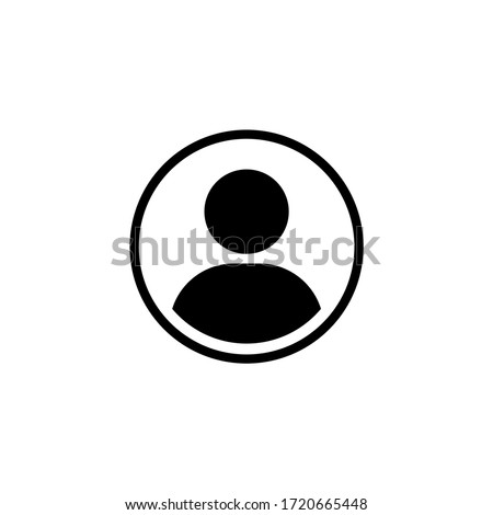 User icon vector in trendy flat design Сток-фото ©