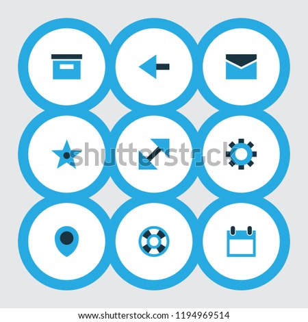 user icons colored set with
