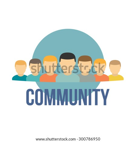 user icons community concept