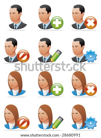 User icons (detailed face)