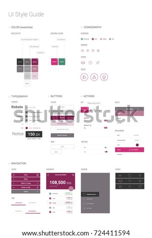 User interface application style guide