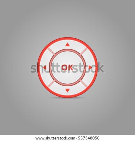 User Interface Control. Colored Web Element. Circle menu. Vector.