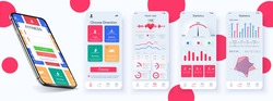 User interface design elements set minimal style – ready templates fitness. Choice of fitness program, health monitoring and current activity level. Sport planner UI,GUI, UX, KIT neomorphic template