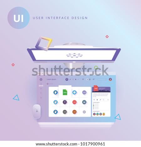 User interface Design. UI. website templates