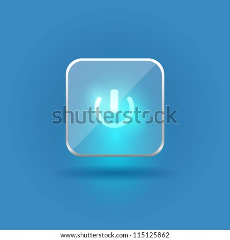 User interface glass switch button (On/Off)